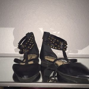 Jessica Simpson Ankle Strap Studded Flats